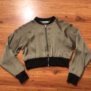 Zara satin bomber jacket